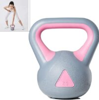 comprar Pesa Rusa Pesas Kettlebell Fitness Body Building Family Muscle Strength Training Gym Mancuernas para Hombres Y Mujeres 2kg-8kg